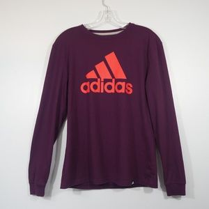 Adidas Purple Long Sleeve Tee Size Small